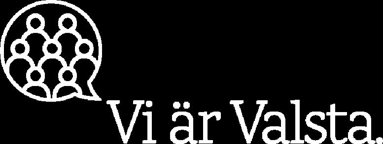 Vi är Valsta logotyp vit